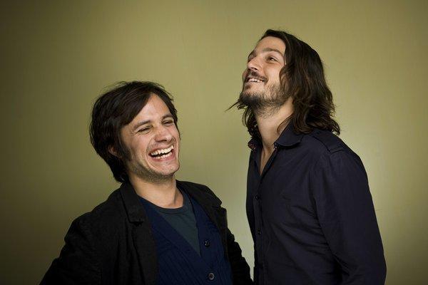 Gael Garcia Bernal, left, and Diego Luna are bringing their Ambulante film fest to California.
