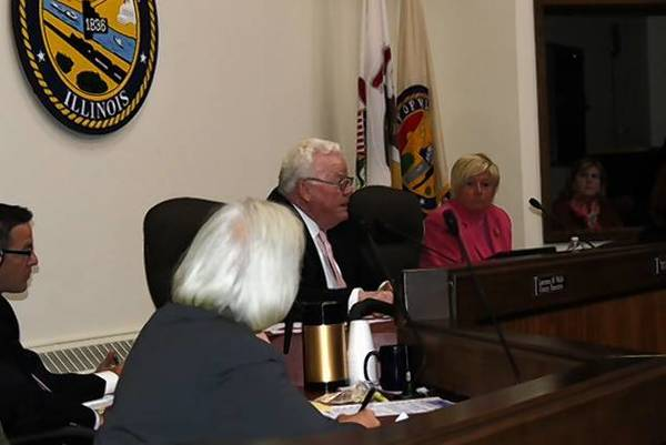 Will County Executive Larry Walsh discusses the proposed tax levy at a recent board meeting. Walsh had to cast a tie-breaking vote to pass a levy that would add about $3 to the property tax bill of a $200,000 home.