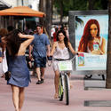 Check out Lincoln Road in Miami Beach