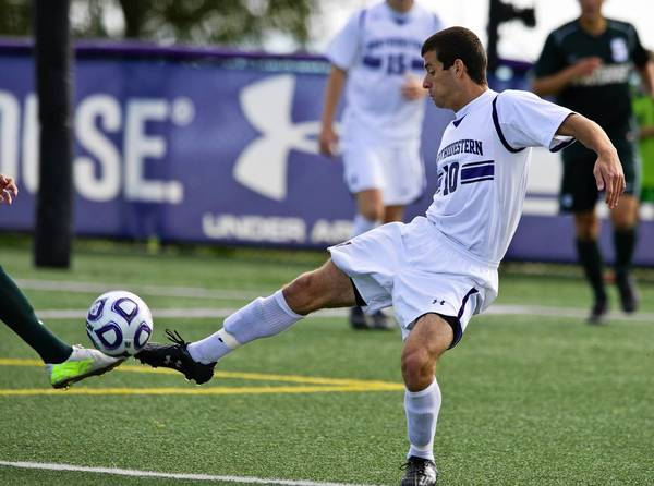 Joey Calistri of Deerfield is nationally ranked Northwestern's leading scorer. He had 10 goals and three assists in the Wildcats' first 13 games.Northwestern University Men's Soccer against Michigan State during their game on Oct 6, 2013 in Evanston, Ill.