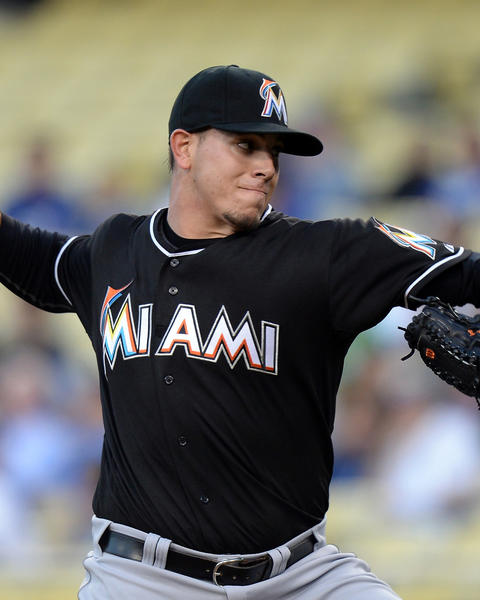 Miami Marlins starting pitcher Jose Fernandez (16) on Monday was named Sporting News National League Rookie of the Year.