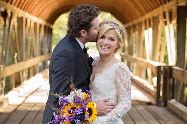 Kelly Clarkson and Brandon Blackstock were married Sunday in Tennessee.