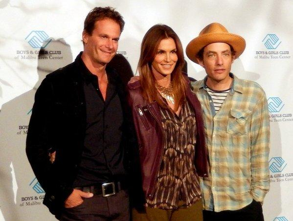 Rande Gerber, left, Cindy Crawford and Jakob Dylan at Saturday's Boys & Girls Club of Malibu benefit.