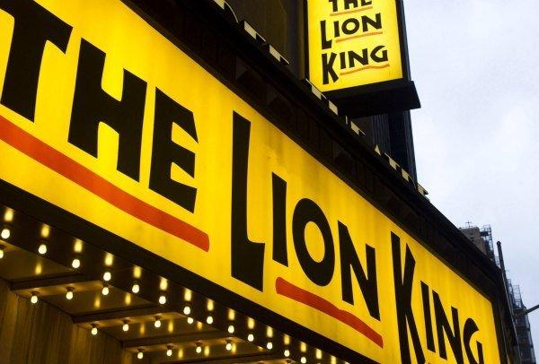 "New York's Minskoff Theatre, home of ""The Lion King."""