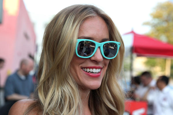 Kristin Cavallari arrives for a 1980's themed fundraiser for the Jay Cutler Foundation at Joe's Bar on Weed Street in Chicago on Thursday, July 18, 2013.
