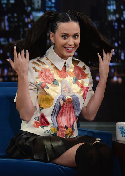 "Katy Perry visits ""Late Night With Jimmy Fallon"" at Rockefeller Center on Oct. 10."