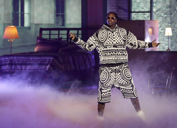 Rapper 2 Chainz performs at the BET Hip Hop Awards.