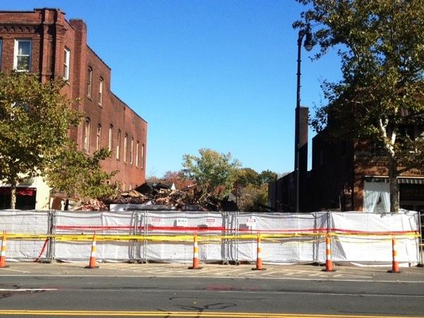 The Main Street building was destroyed by fire. Demolition was completed Saturday.
