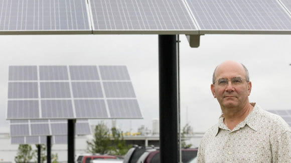 Peter Testa, president of Testa Produce, stands outside the company's new building, which uses solar panels for power, in a 2011 file photo.
