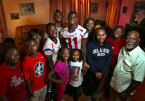 Plantation football players Chris Lammons and Ravian Pierce have plenty of family members to lean on for support.