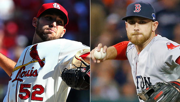 St. Louis Cardinals pitcher Michael Wacha, left, and Boston Red Sox third baseman Will Middlebrooks have at least one thing in common.