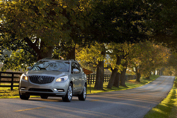 Buick's 2014 Enclave shares a platform with the Chevy Traverse and GMC Acadia. The loaded model tested sells for $52,880.
