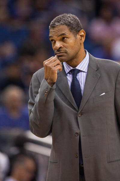 Detroit Pistons coach Maurice Cheeks looks on during Sunday's preseason game at Orlando.
