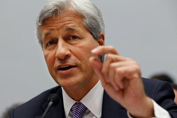 "JPMorgan Chairman Jamie Dimon. ""President Obama likes me this much."""