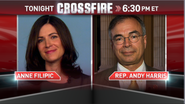 """Maryland Congressman Andy Harris did well in CNN's phony, made-for-TV debate about Obamacare on """"Crossfire."""" But as I watched, I was reminded of why I hate this show so truly, madly and deeply."""