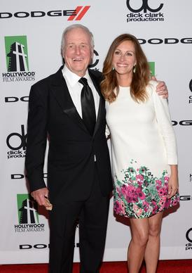 Producer Jerry Weintraub  and actress Julia Roberts arrive at the 17th Hollywood Film Awards at the Beverly Hilton Hotel.