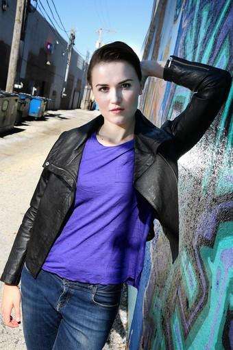Chicago based author Veronica Roth, 25, in Chicago's Andersonville neighborhood.