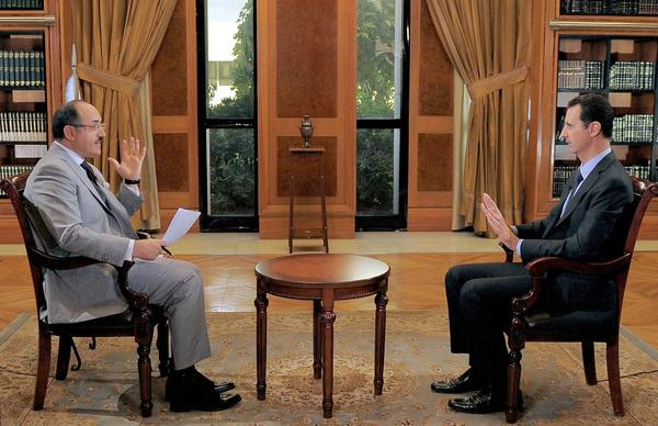 President al-Assad's interview with Al Mayadeen TV