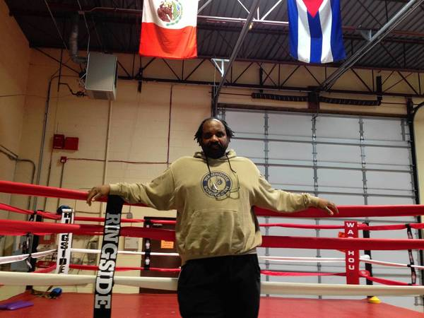 """If you believe in yourself, you can get so much more out of your body. Boxing's not about how big you are,"" said Albert Falcon, pictured here, owner of the Warehouse Boxing Gym, which recently relocated to 3570 Western Avenue in Highland Park."