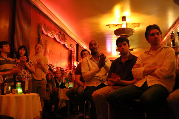 A packed house watches the Gilad Hekselman Trio at the Green Mill.