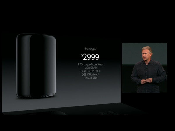 Apple marketing chief Phil Schiller in San Francisco on Tuesday said the new Mac Pro will be available before the end of the year starting at $2,999.