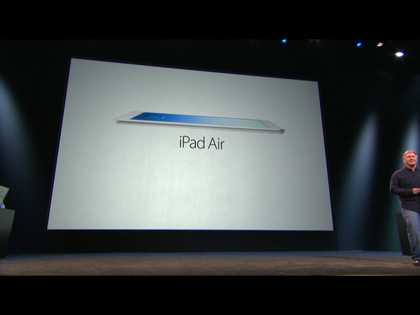 Apple introduced its fifth-generation iPad, the iPad Air.