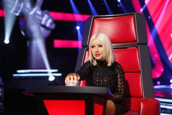 """Christina Aguilera is one of four judges on NBC's hit """"The Voice."""""""
