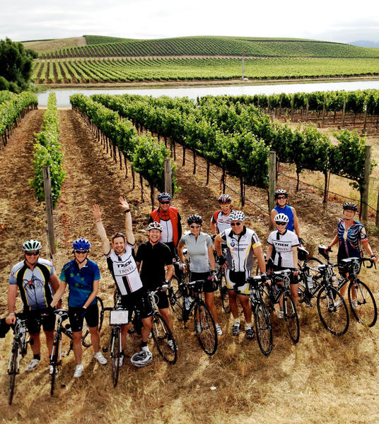 You can cycle the rolling hills of Napa and Sonoma valleys, then take breaks to sample the local wines.