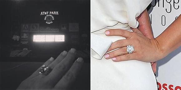 Kim Kardashian's engagement rings