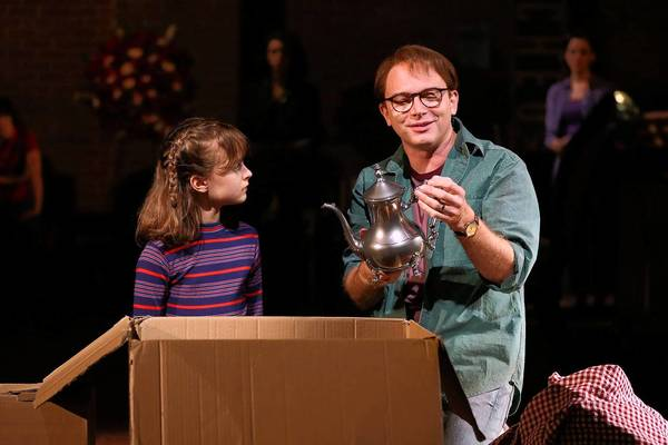 "Sydney Lucas and Michael Cerveris in ""Fun Home."""