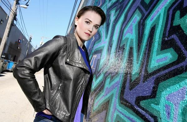 Chicago based author Veronica Roth, 25 in Chicago's Andersonville neighborhood.