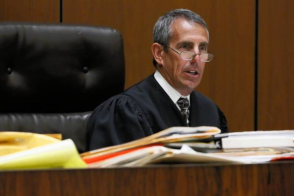 L.A. County Superior Court Judge Craig Richman in his courtoom in May. Richman, 55, spent about 20 years as a prosecutor before being appointed to the bench in 2005.