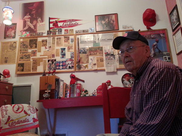 Don Swain of Brentford has been a fan of the St. Louis Cardinals for decades and has a room full of memorabilia about the team.