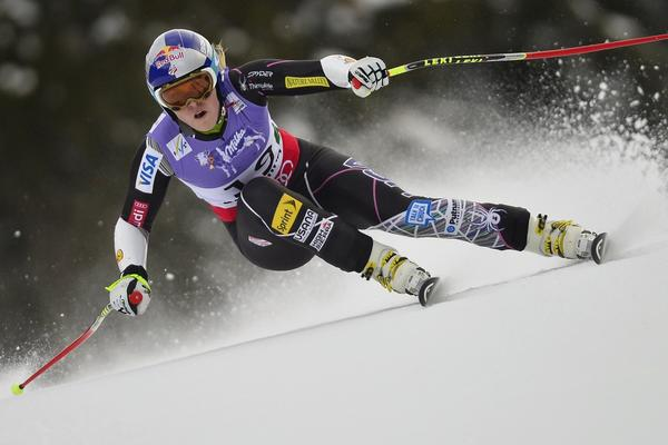 Lindsey Vonn of the US competes during the women's Super-G event of the 2013 Ski World Championships in Schladming, Austria.