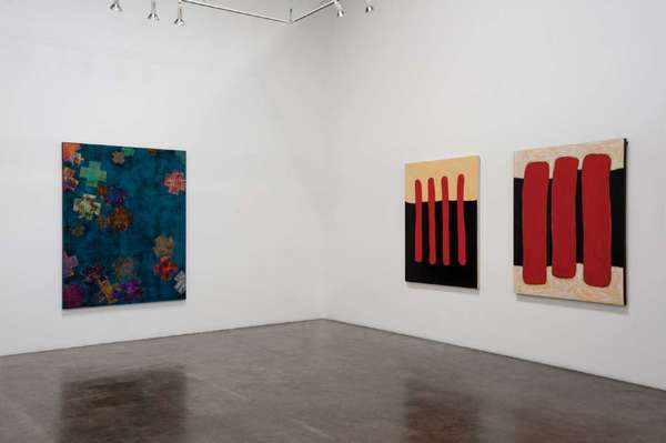 A view of a recent exhibition at Leslie Sacks Contemporary featuring the work of artist Charles Christopher Hill.