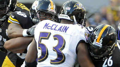 Ravens' Dean Pees calls Jameel McClain's comeback 'amazing'