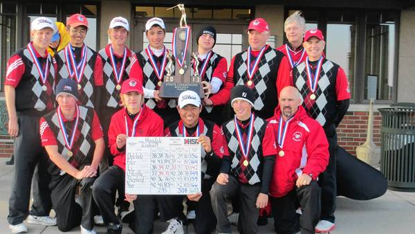 The State Chapion 2012 Hinsdale Central boys golf team