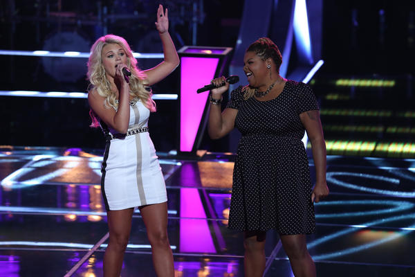 "Olivia Henken and Stephanie Anne Johnson battle on ""The Voice."""