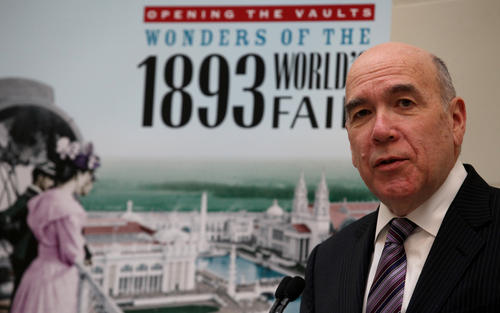 """Richard Lariviere, President and CEO of the Field Museum  introduces the show """"Opening the Vaults: Wonders of the 1893 World's Fair."""""""