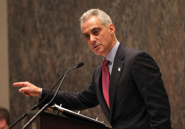 Mayor Rahm Emanuel presents his 2014 budget to the Chicago City Council.