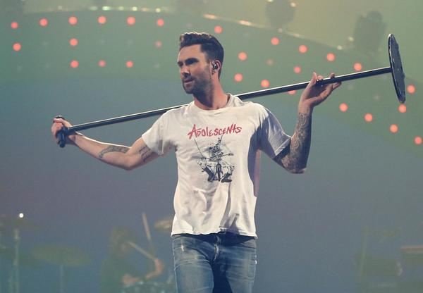 Adam Levine of Maroon 5 performs during the iHeartRadio Music Festival in Las Vegas.