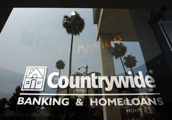 A federal jury in Manhattan found BofA liable for faulty loans its unit Countrywide Financial Corp. sold to mortgage finance giants Fannie Mae and Freddie Mac. Countrywide, a mortgage lending powerhouse based in Calabasas, was acquired by BofA during the height of the housing crisis in 2008. Above, a 2008 file photo of a Countrywide office in Beverly Hills.