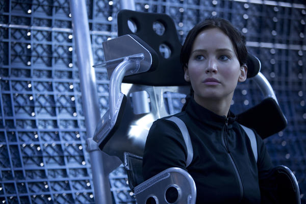 "Jennifer Lawrence stars as Katniss Everdeen in the upcoming Lionsgate movie ""The Hunger Games: Catching Fire,"" which is among 31 movies that will be released this year on a new digital cinema platform."