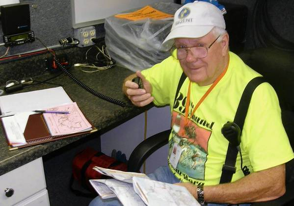 Steve Flynn volunteered with the Lake County Amateur Radio Emergency Service during the recent Mount Dora Bicycle Festival.