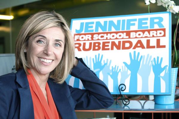 Jennifer Rubendall, 2013 LDUSD school board candidate. Photographed on Monday, October 21, 2013.