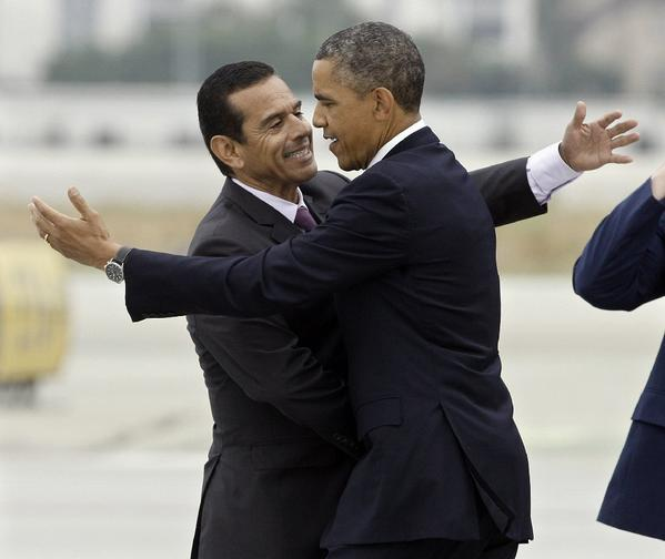 Antonio Villaraigosa and President Obama. Didn't the former mayor used to look out for the little guy?
