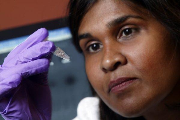Dr. Deborah Persaud of Johns Hopkins' Children's Center in Baltimore helped study the case of a girl who has been cured of HIV.