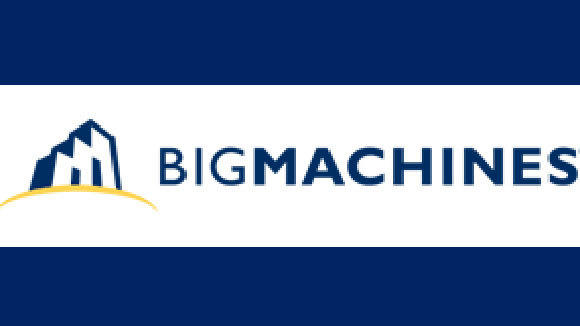 The logo of BigMachines, the Deerfield provider of software to help companies execute complex sales transactions.
