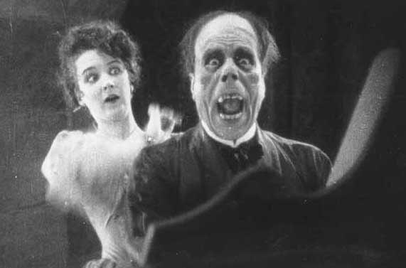 """The Phantom of the Opera"" with Lon Chaney, Mary Philbin."