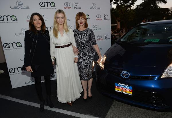 Author and congressional candidate Marianne Williamson, left, attends the Environmental Media Awards in Burbank.